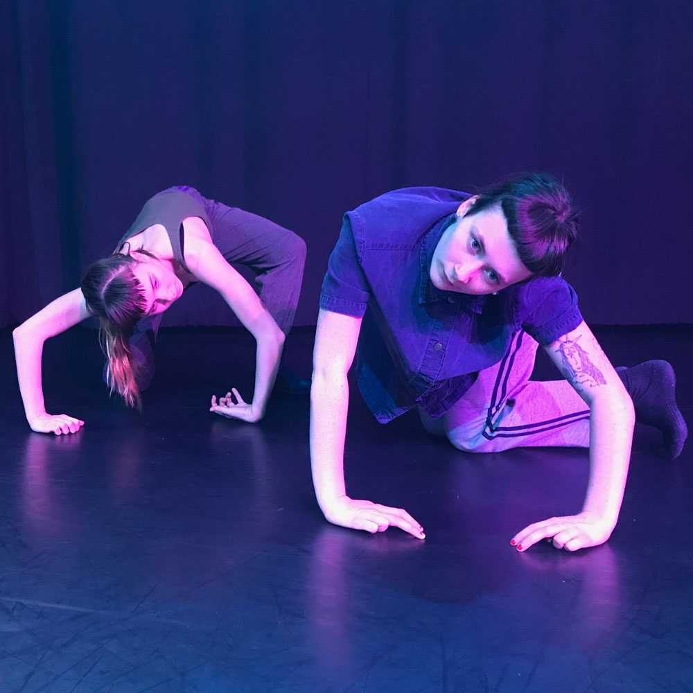 Dance artists Oksana Hayduk and Alder Sherwood perform