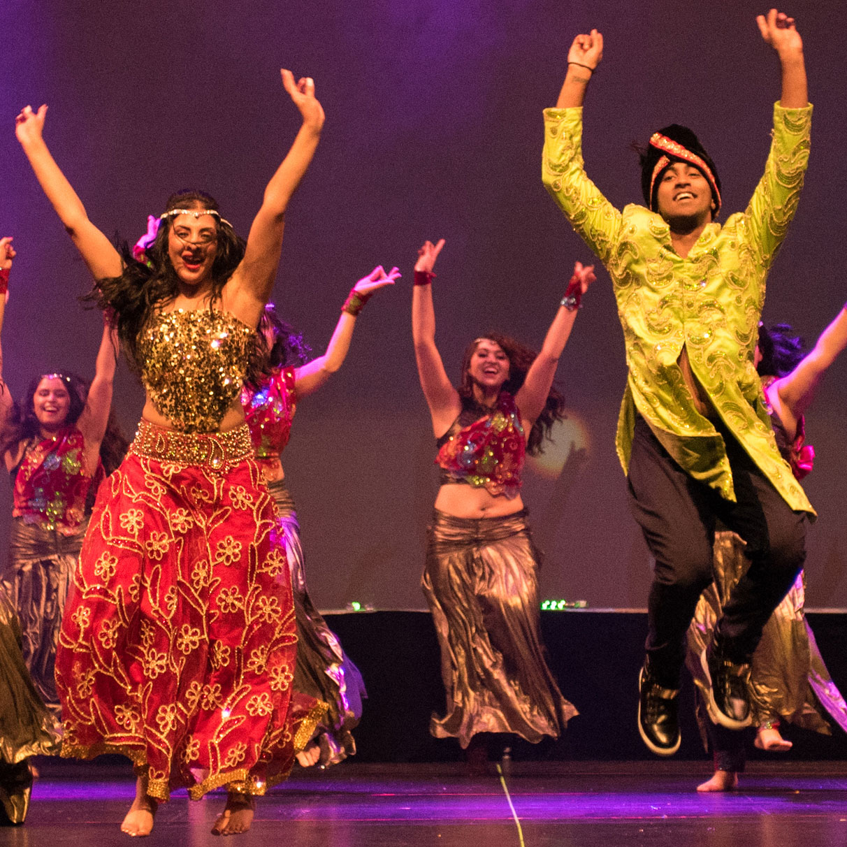 Dance artists from Shiamak's Bollywood Jazz perform