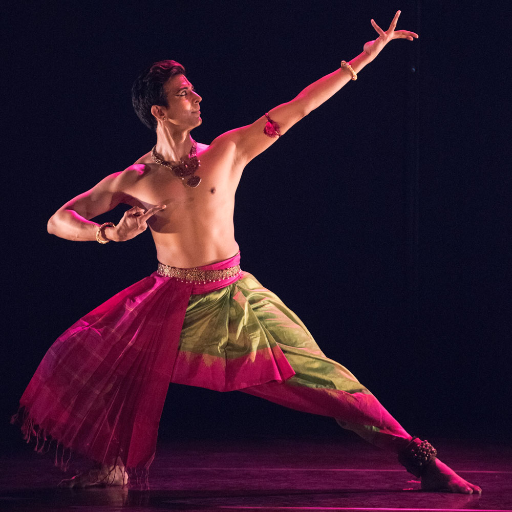 Dance artist Sujit Vaidya poses
