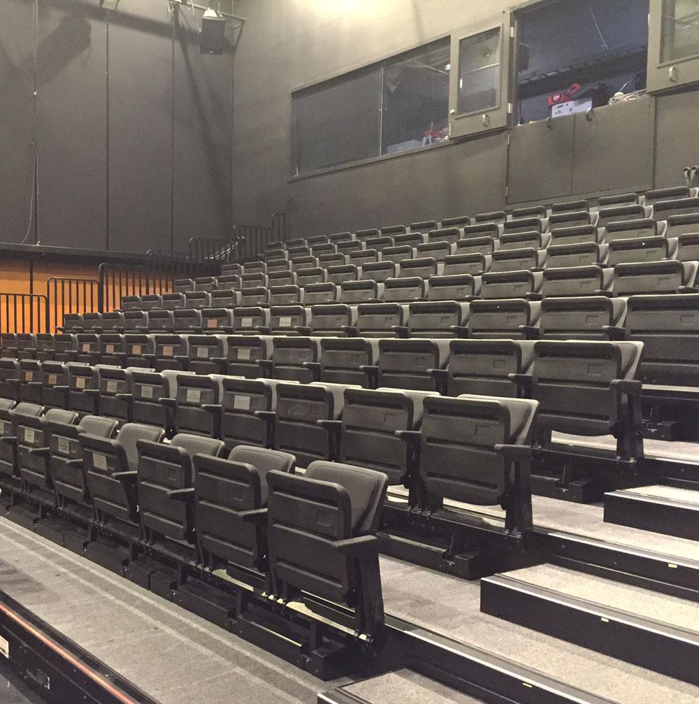 The empty seats of the Faris Family Studio
