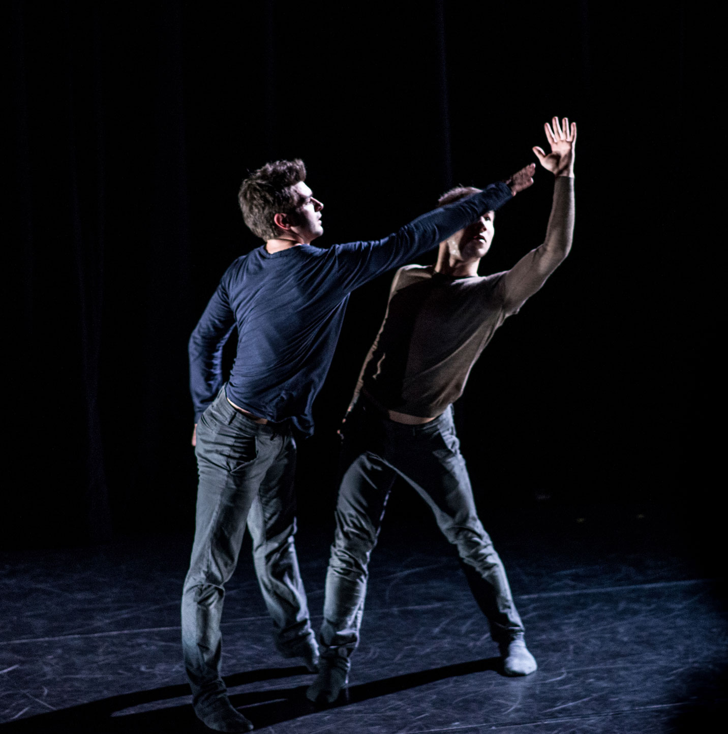 Dance artists perform Saudade as part of Joshua Beamish/MOVETHECOMPANY