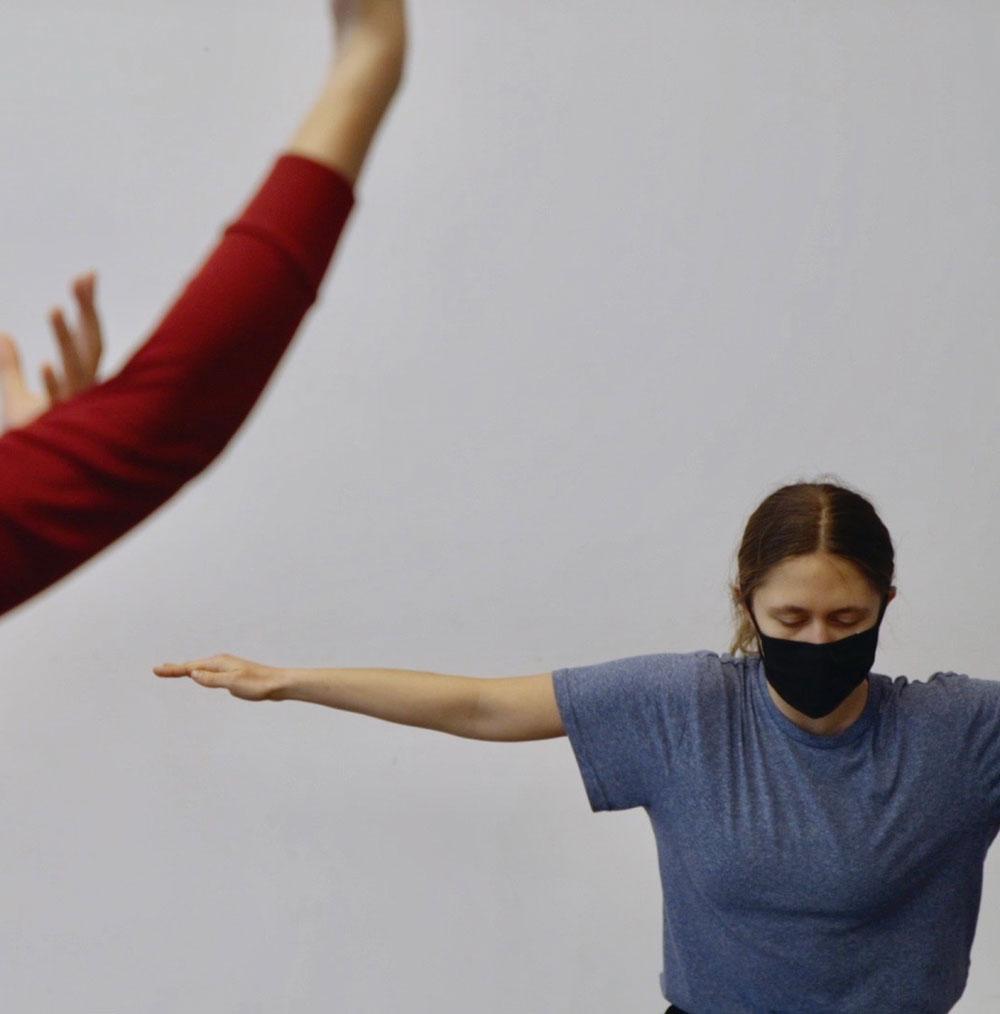 Dance artist Sophie Mueller-Langer rehearses
