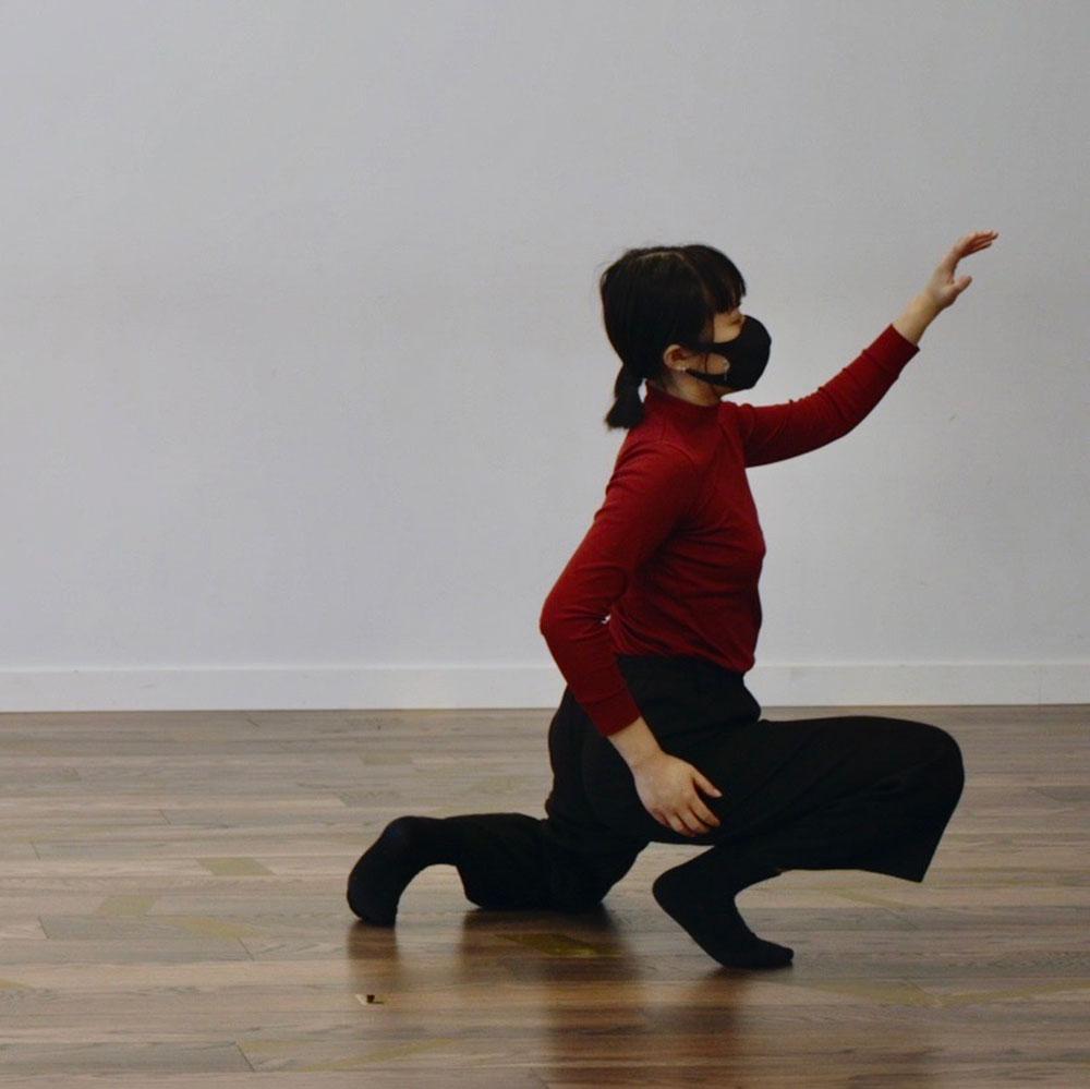 Dance artist Sarah Wong rehearses
