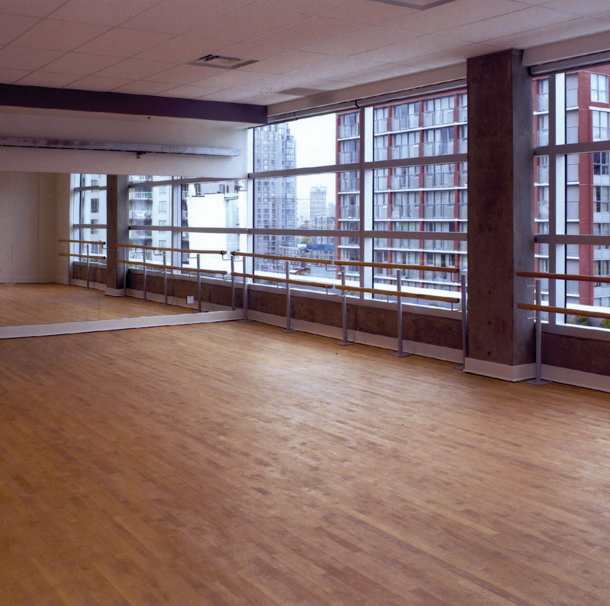 The Scotiabank Dance Centre's Marcuse studio stands empty