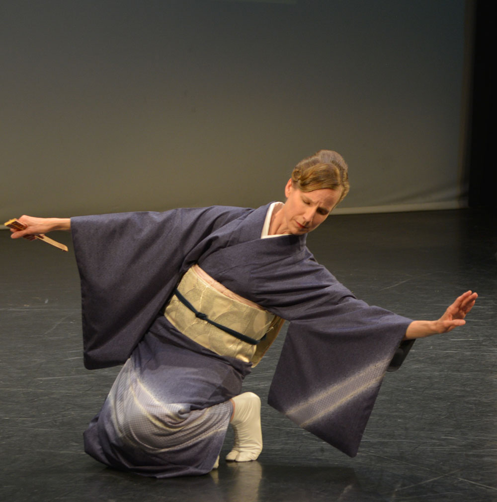 Dance Artist Colleen Lanki performs nihon buyoh