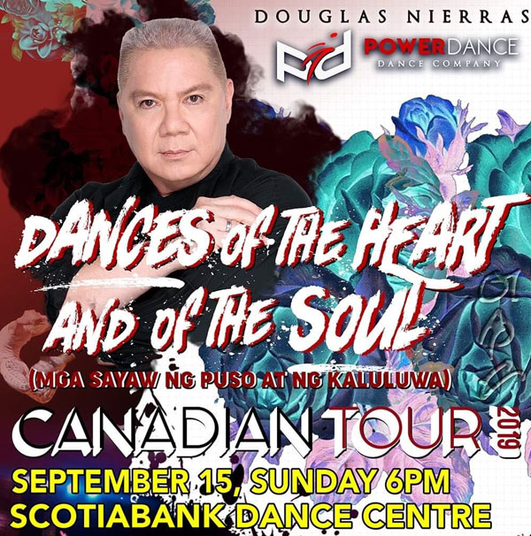Douglas Nierras pose on poster for Powerdance event
