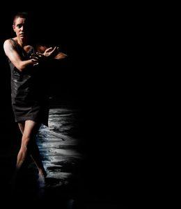 Dance artist Mariaa Randall mid performance