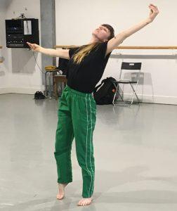 Dance artist Oksana Augustine rehearses