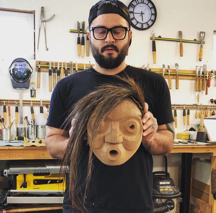 Carver Bracken Hanuse Corlett with mask
