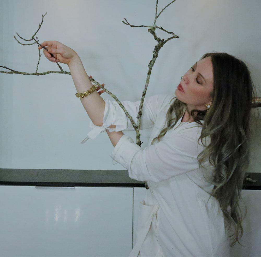 Dance artist Alina Sotskove poses