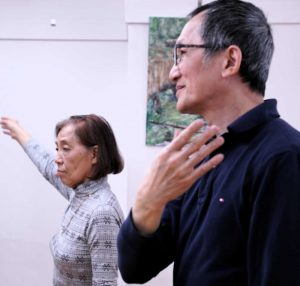 Two seniors dancing during Power of Dance at Barclay Manor