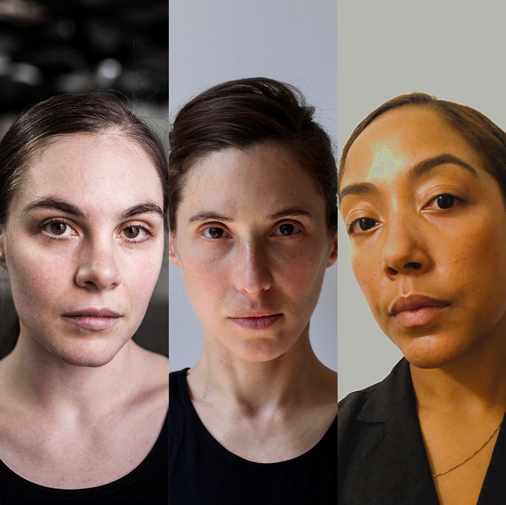 collage of headshots of dance artists Rebecca Margolick, Vanessa Goodman and Livona Ellis