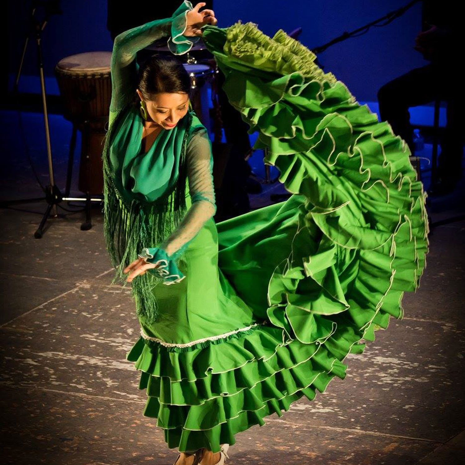 Flamenco artist Kasandra Lea poses