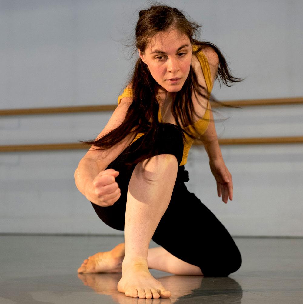 Dance artist Rebecca Margolick in rehearsal
