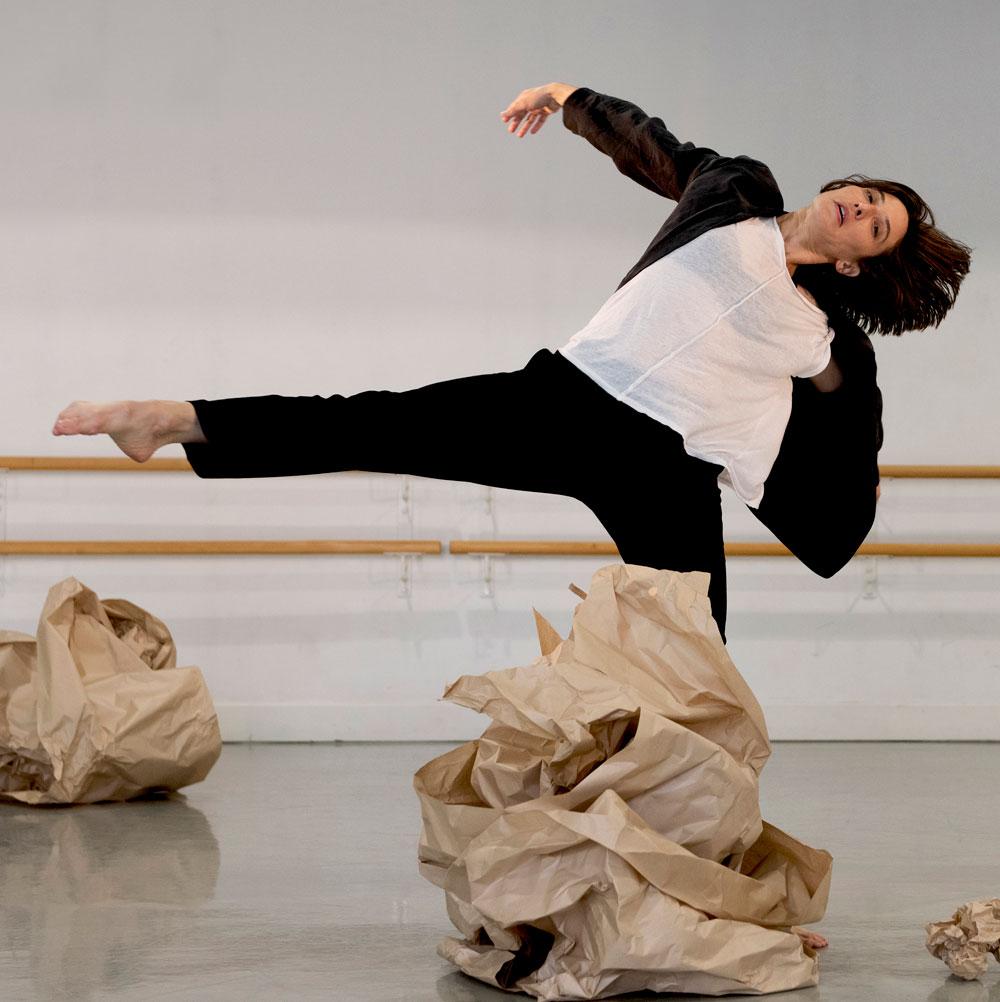 Dance artist Vanessa Goodman in rehearsal