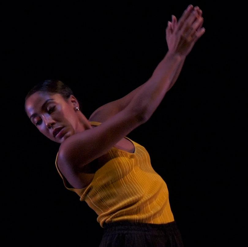 Dancer Livona Ellis performs