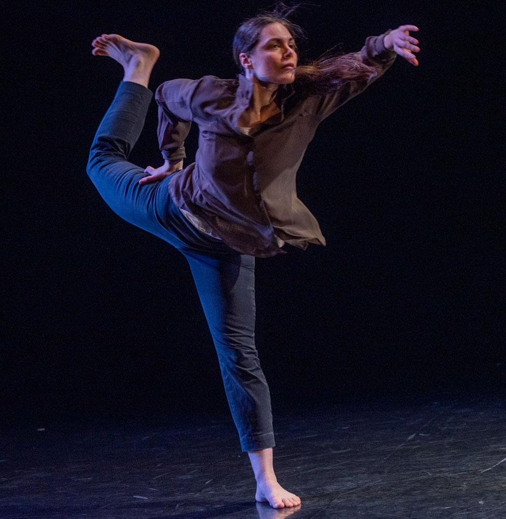 Dancer Rebecca Margolick performs
