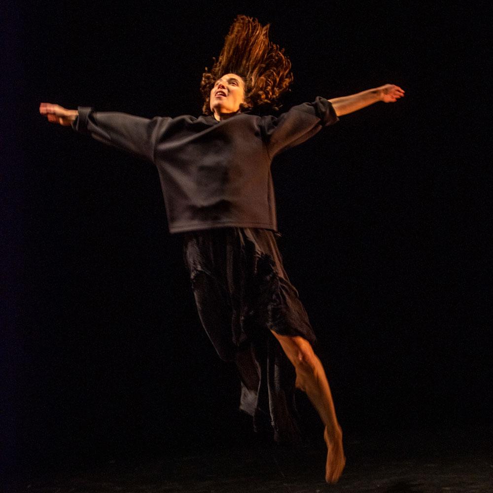 Dancer Vanessa Goodman performs