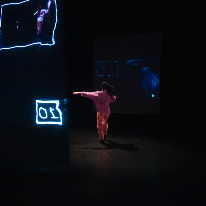 Dance artist Caroline MacCaull rehearses