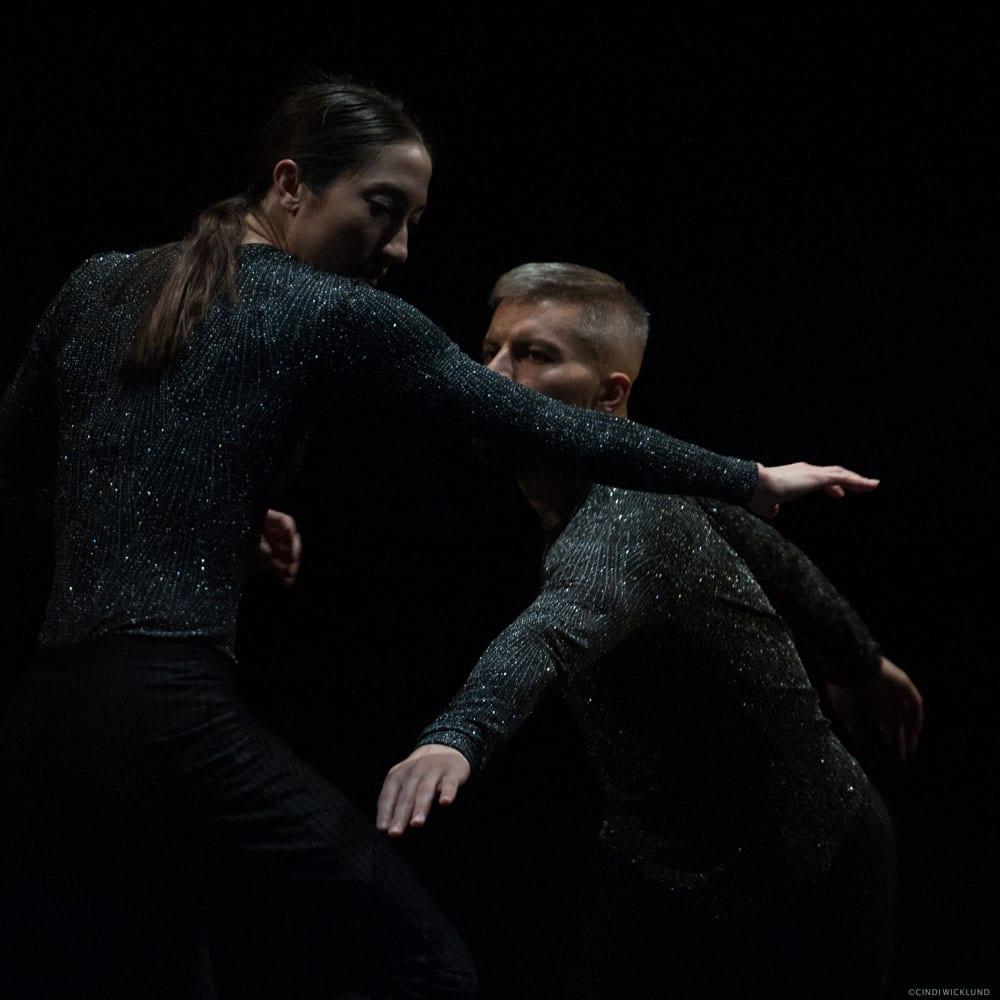 Joshua Beamish & Renee Sigouin performing in Proximity