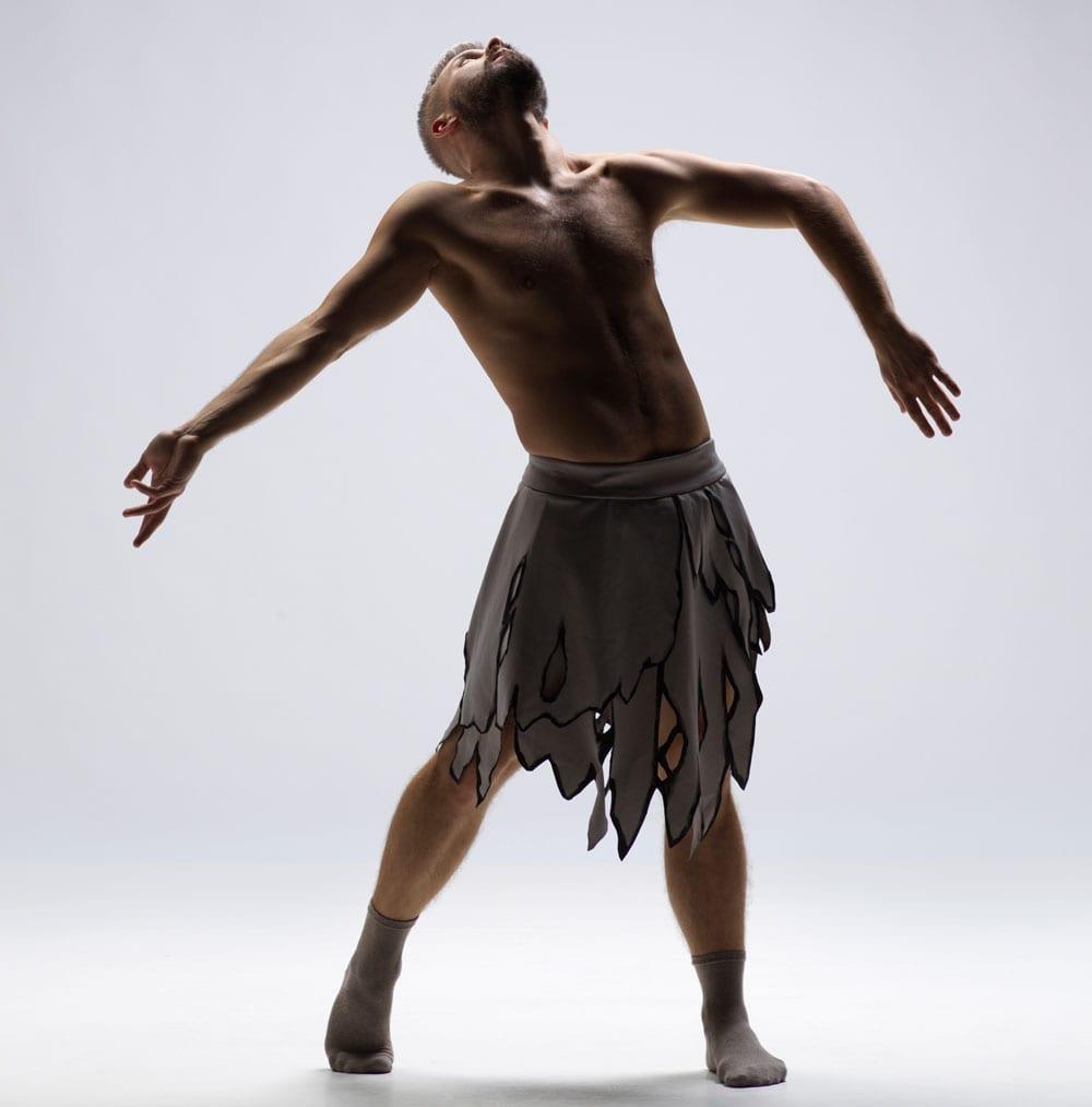 Joshua Beamish poses mid performance