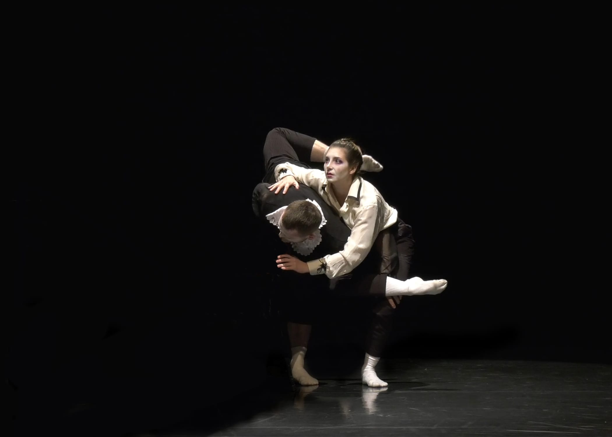 Dance artists Racheal Prince & Brandon Lee Alley perform Hourglass on a stage